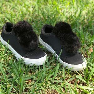 Mossimo  Pom Pom slip on platform shoes